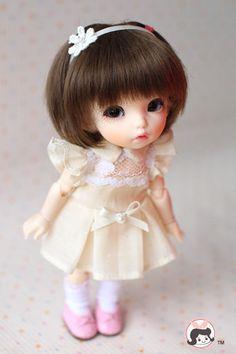 Lati Yellow Puki Fee AE Doll Outfit Beige Lace One Piece Dress | eBay
