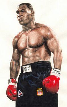 Iron Mike Tyson - Watercolour...