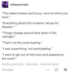 Writing prompts from Tumblr