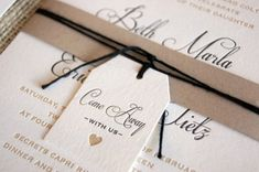"""Oh So Beautiful Paper: Beth + Eric's """"Come Away With Us"""" Destination Wedding Invitations"""