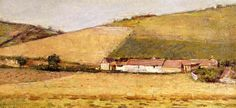 Theodore Robinson (American, [Old Lyme Colony, Impressionism] Farm Among Hills, American Impressionism, Impressionist, Theodore Robinson, Old Lyme, Mountain Landscape, Claude Monet, Oil On Canvas, United States, Nature