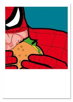 Secret life of superheroes art