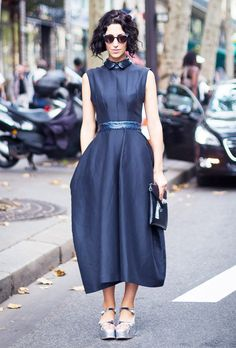 What Shoes to Wear With Every Type of Dress This Fall via @WhoWhatWear