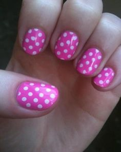 Pink and white polkdots