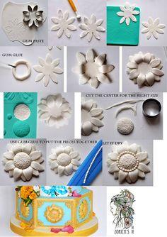 Adorno Floral ♥Zorica´s Cake Art♥ https://www.facebook.com/ZoricasCakeArt/photos/pb.474549872633186.-2207520000.1406191918./634409576647214/?type=3&theater