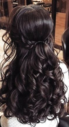 Brunette Balayage for Thick Hair - 50 Cute Long Layered Haircuts with Bangs 2019 - The Trending Hairstyle Quince Hairstyles, Wedding Hairstyles For Long Hair, Bride Hairstyles, Down Hairstyles, Formal Hairstyles, Ponytail Hairstyles, Updo, Long Hair Wedding Styles, Wedding Hair Down