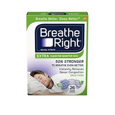 Breathe Right Extra Strength Nose Strips to Reduce Snoring and Relieve Nose Congestion, Drug-Free, Pack of 26 Clear Nasal Strips for Sensitive Skin Asthma Relief, Congestion Relief, Nasal Congestion, Breathe, What Is Sleep Apnea, Circadian Rhythm Sleep Disorder, Cold Or Allergies, Allergy Medicine, Sleep Apnea Remedies