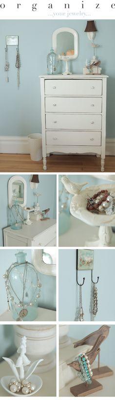 Organize your jewelry in creative & cute ways!