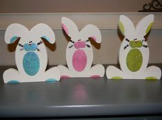 Bunny Trio by 4colorfulseasons on Etsy, $18.99