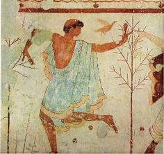 Male dancer, Tomb of the Trinclinium, Tarquinia, ~470 B.C.
