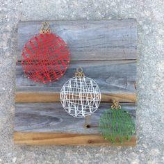 Ähnliche Artikel wie Ornament-String-Kunst auf Etsy - Famous Last Words Christmas Card Crafts, Christmas Projects, Christmas Art, Holiday Crafts, Wedding String Art, Nail String Art, Nail Art Blog, String Art Patterns, Arts And Crafts