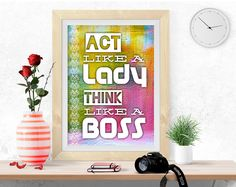 Inspirational quote, Motivational print, digital print, poster printable, colorful wall art, success quote, famous quote, digital JPEG PDF by InArtPrints on Etsy
