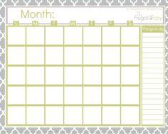Pick Blank Bill Calendar Printable Colorful ⋆ The Best Printable Calendar Collection Free Calendars To Print, Print Calendar, Kids Calendar, Calendar Ideas, Calendar Design, Planner Ideas, Blank Calendar Pages, Printable Calendar Template, Free Printables