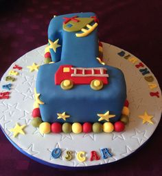 Number one, 1st birthday cake for a boy
