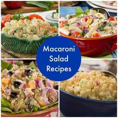 With these easy pasta salad recipes, we'll show you how to make macaroni salad like a champ. You can never go wrong with macaroni salad as a potluck or picnic bring-along, and it's also a great anytime summer recipe.