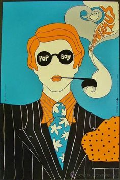 Psychedelic Pop Boy Poster Has the Pushpin Studios look but unsure who the designer was --- but I really like it. Art Inspo, Kunst Inspo, Inspiration Art, Art Vintage, Retro Art, Vintage Posters, Art Posters, Pop Art, Psychedelic Art