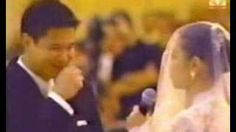 Lea Salonga's wedding! She just sang to her husband :O    If I'm good enough to do this, I wanna! As much as I want him to be able to sing to me, I want to sing to him too you know. Therefore, magppractice na talaga ako. Gagalingan ko pang kumanta, para sa iyo. Kung sino ka man. :)