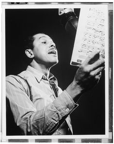 Portrait of Cab Calloway, Columbia studio, New York, N.Y., ca. Mar. 1947. Photograph by William P. Gottlieb. William P. Gottlieb Collection, Library of Congress Music Division.