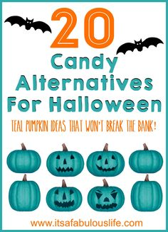 20 Candy Alternatives For Halloween - Great ideas for the #TealPumpkinProject and for kids with allergies!