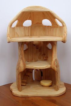 the elves and the wood botherer: mushroom house