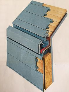 Has anyone incorporated concealed gutters into pitched roofs? Roof Cladding, House Cladding, Cladding Panels, Exterior Cladding, Facade House, Zinc Roof, Metal Roof, Roof Architecture, Architecture Details