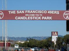Candlestick Park San Francisco, CA Home of the SF 49ers Super Bowl  (XVI), (XIX),  (XXIII),  (XXIV), and (XXIX) Champions