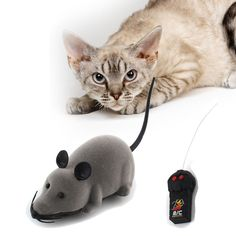Wireless Remote Control Mouse Electronic RC Mice Toy Pet Cat Toy