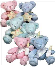 """Baby Bear-With-Me Teddy Bears.  A perfect gift for the new baby.  Your choice of sash that reads """"It's a Girl"""", """"It's a Boy"""", or """"Congratulations""""."""