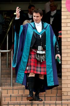 """Kilts are all over the place thanks to the new Starz series """"Outlander,"""" including wrapped around the hips of some of our favorite celebrity men."""