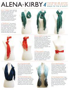 4 new ways to tie your scarf .   ALENA KIRBY   Alena Kirby Blog
