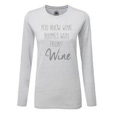 Longsleeve t-shirts vanSHIRTJEtotSHIRTJE | Friday wine