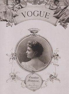first vogue cover, countess divonne by harry mcvickar, 1893