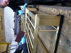 Brass back bar being manufactured