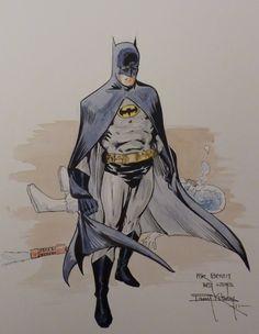 Batman &  Mr Freeze Comic Art