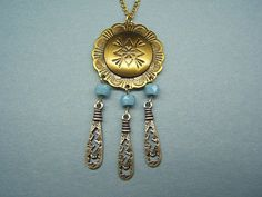 Necklace Concho southwestern tribal Indian by DesignsByMaral