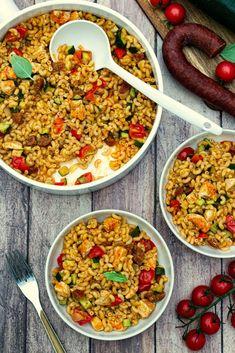 Pasta Dinner Recipes, Pasta Salad Recipes, New Recipes, Cooking Recipes, Healthy Recipes, Plats Healthy, Risotto, Health Dinner, Batch Cooking