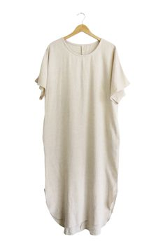 Fall Linen Dress in Natural | ROOLEE