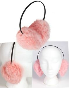 GENUINE SURELL SAKS FIFTH AVE RABBIT PINK FUR  EARMUFFS SUPER FLUFFY $125 #giftsunder15 #giftsunder20 #furearmuffs #furheadband #pinkfur #rabbitfurearmuffs #surell #genuinefur #stockingstuffer
