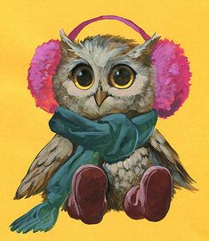 ArtStation - Winter owl, Alexandra Petruk