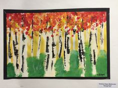 The 5 th grade students studied landscapes. A landscape is a painting or picture of physical elements that are outside including mountain...