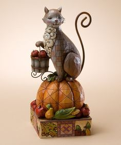 Take a look at this Cat on Pumpkin Figurine by Jim Shore on #zulily today! [Gave this to Carlotta :-) meke]