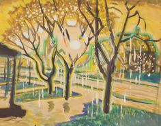 CHARLES BURCHFIELD, PICTURE OF TREES 1917