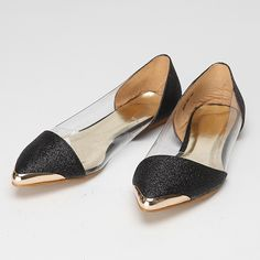 Glitter Jelly Pointy Shoes via Storets.com