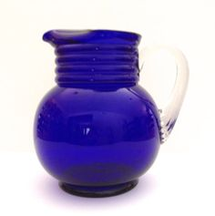 Cobalt Blue 64 ounce pitcher Imperial 451 Pattern by JanvierRoad, $45.00