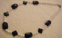 collana lunga con mezzo cristallo bianco e pietre dure pietra della luna, by crys_e_cri, 35,00 € su misshobby.com
