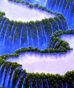 Stunning blue waterf nature love