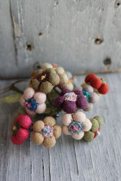 The creatory - We love the textile jewellery Sophie Digard makes. So special. Posy brooch.