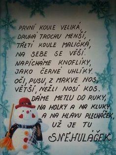 Christmas DIY :  Sněhuláček Christmas Diy, Christmas Ornaments, Advent, Diy And Crafts, Preschool, Holiday Decor, Children, Flowers, Dark Around Eyes