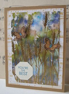 Distress inks watercolor background