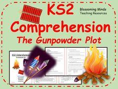 Year 3 and 4 comprehension - The Gunpowder Plot (Guy Fawkes/Bonfire/Fireworks Night) Bonfire Night Guy Fawkes, Gunpowder Plot, Key Stage 2, Why Questions, Fun Learning, Comprehension, Fireworks, Teaching Resources, Literacy